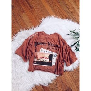 🌿 Vtg 90's Virginia Graphic Cropped Tee 🌿